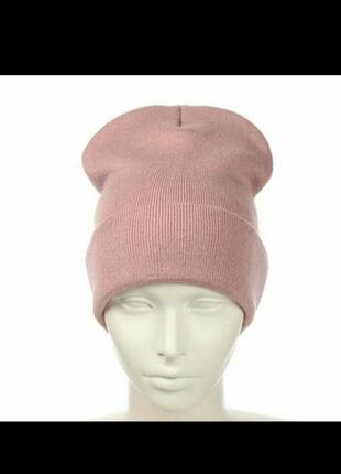 Двойная шапка лопатка 15 цветов теплая