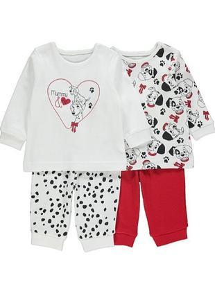 Чудесные пижамки для девочки 2-3 лет george