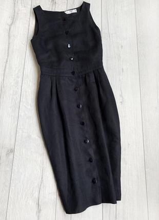Платье с открытой спиной льняное  оригінал valentino