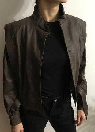 Куртка шкіряна італія