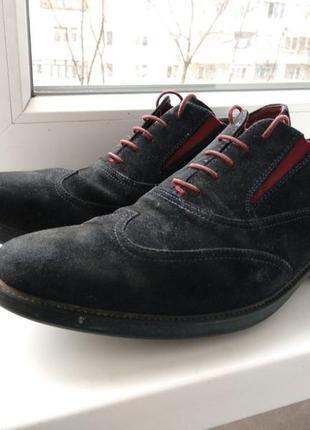 Брендові туфлі чоловічі мешти geox respira 45 [італія] (брогги мужские замшевые)