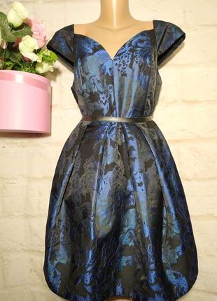 Платье миди очень красивое новое нарядное пышная юбка р 16  asos