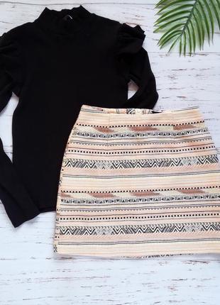 Фактурная юбка new look р. xs