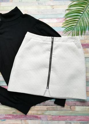 Плотная фактурная юбка topshop р.s