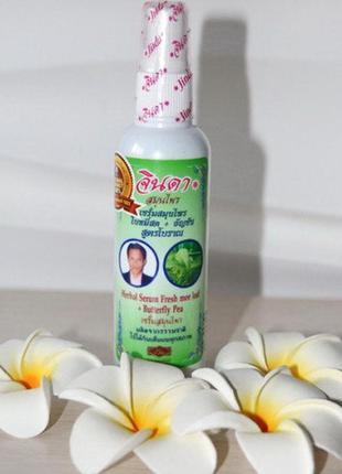 Тайская лечебная сыворотка от выпадения волос, jinda herbal, 120мл