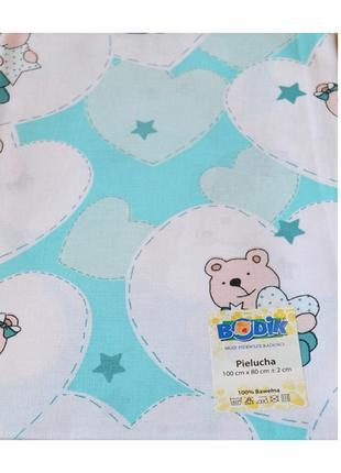 Ситцевая пеленка для новорожденных