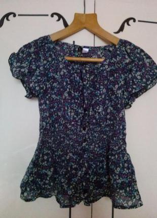 Блуза в цветочки скидка 50%
