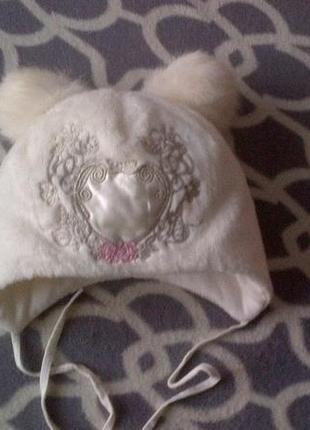 Зимняя, теплая шапка с натуральными балабонами, jamiks, 46 размер, для девочки