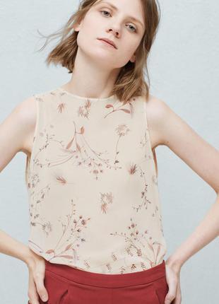 Нежная блузка с цветочным узором mango, новая с биркой
