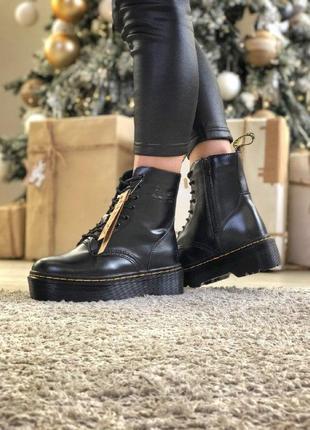 Dr. martens jadon зимние ботинки на меху мартинс жадон на платформе