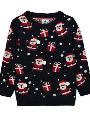 Теплый новогодний свитер для ребенка george (великобритания)