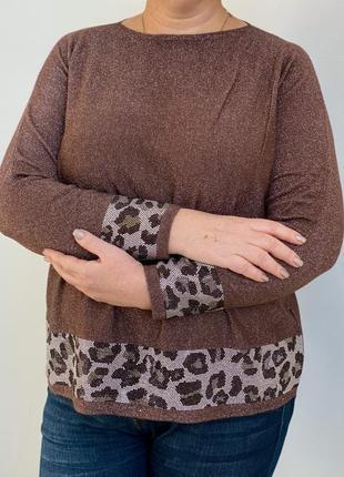 Нарядный свитер люрекс большие размеры3 фото