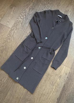 Вязаное пальто-кардиган stefanel, оригинал, s