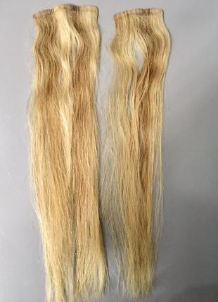 Натуральные длинные волосы на заколках блонд из сша