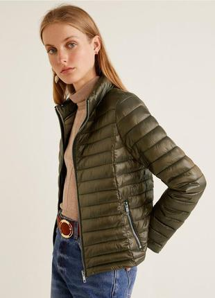 Стёганый непромокаемый анорак куртка mango, xs-s