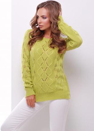 Новый модный фисташковый свитер