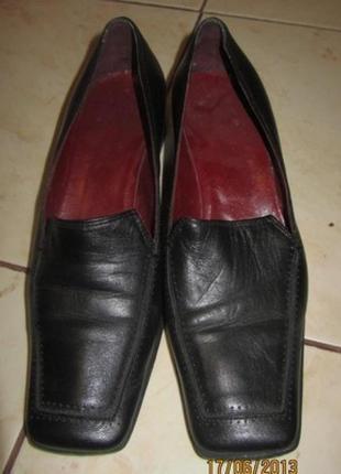 Удобные женские туфельки размер 36,5, кожа, Италия