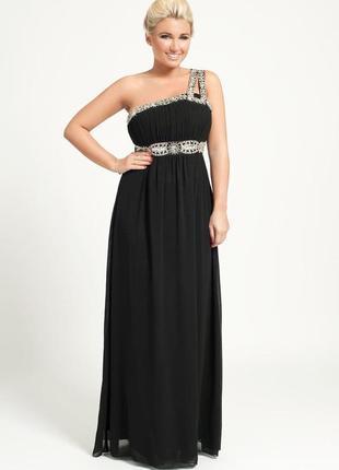 Роскошное вечернее платье на одно плечо