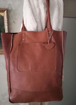 Большущая роскошная сумка-шоппер white stuff🦋🦋🔥💥🍂