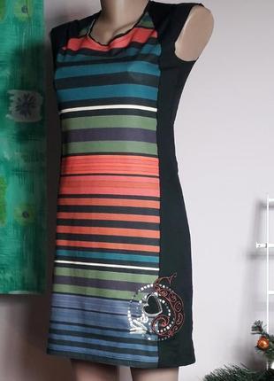 Desigual платье французский трикотаж на осень зиму праздничное