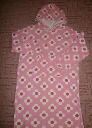 Платье полотенце бассейн пляжное банное 10-11 лет