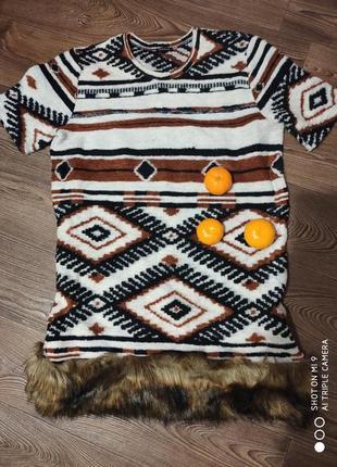 Уютное зимнее платье.