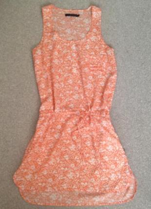 Лёгкое брендовое  платье в цветочный принт