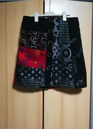 Итальянская шерстяная юбка.