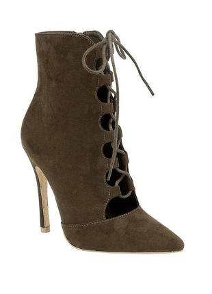 Туфли-сапожки цвета хаки от truffle collection 37 размер
