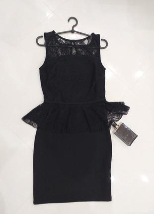 Маленькое черное силуэтное платье, размер 42, оригинал германия