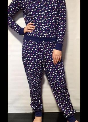 Трикотажная пижама,комбинезон,слип tu