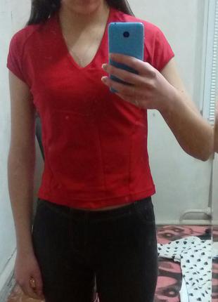 Красная спортивная футболка nike оригинал (для фитнеса,спорта)1