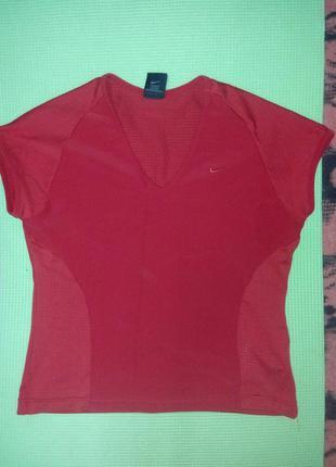 Красная спортивная футболка nike оригинал (для фитнеса,спорта)3
