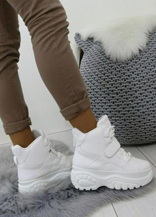 Женские  ботинки/кроссовки на платформе