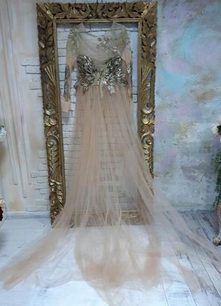 Дизайнерское будуарное платье для фотосессии беременности или можно не беременности