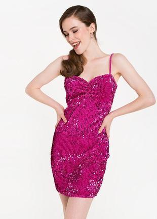 Продам новый женский праздничный блестящий  новогодний сарафан платье в паетках