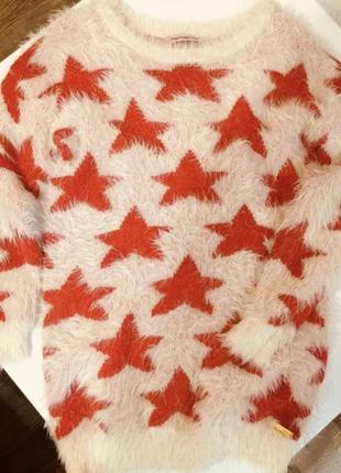 Яркий свитер платье туника fornarina оригинал оверсайз