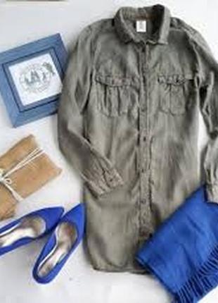 Джинсовое платье-рубашка,платье-халат,милитари,сафари
