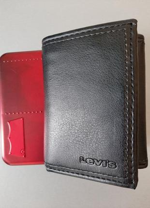 Мужской кошелек levi's, levis в подарочной упаковке, оригинал из сша