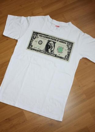 Белая футболка supreme размер m оригинал