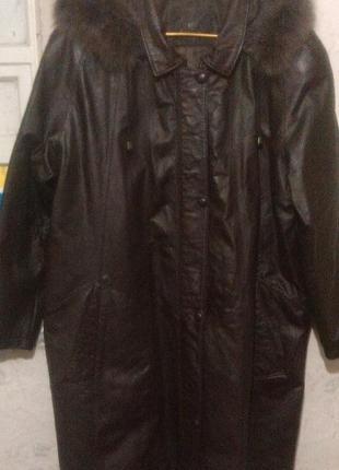 Кожаный плащ, парка, куртка