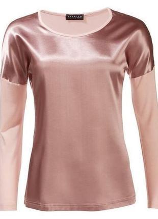 Красивая блуза лонгслив реглан esmara цвета пудра