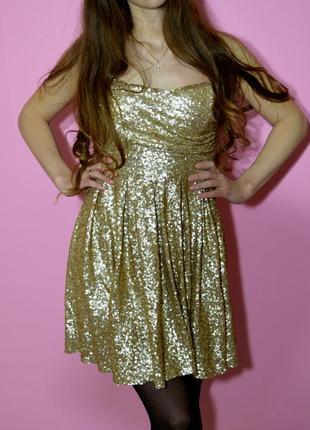 Роскошное золотое платье на праздник,праздничное,новогоднее