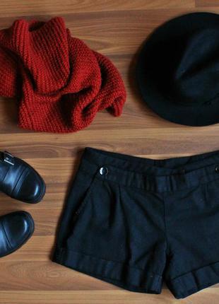 Теплые шерстяные шорты topshop