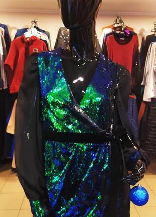 Трендова сукня з паєток на запах🔥💣
