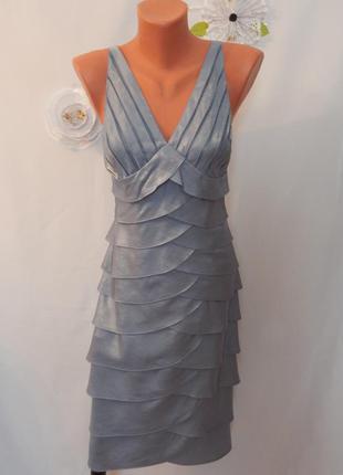 Нежно-голубое платье heine (размер 36)