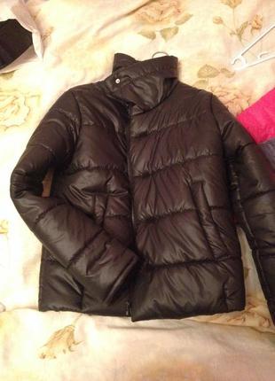 Тёплая зимняя куртка с высоким воротником