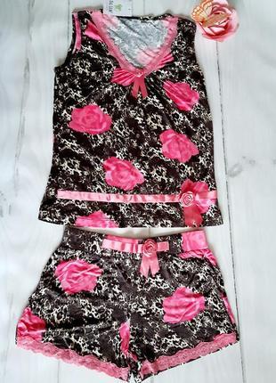 Майка шорты ,размер l бренд penye mood1 фото