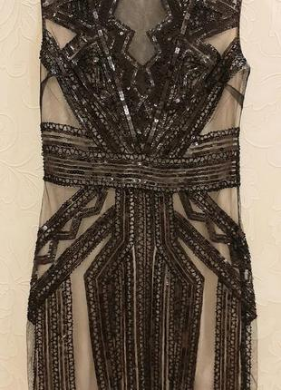 Шикарное платье паетки бисер