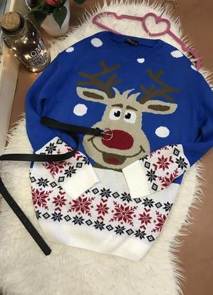 Новогодний свитер с оленем 🎄🎅🏻